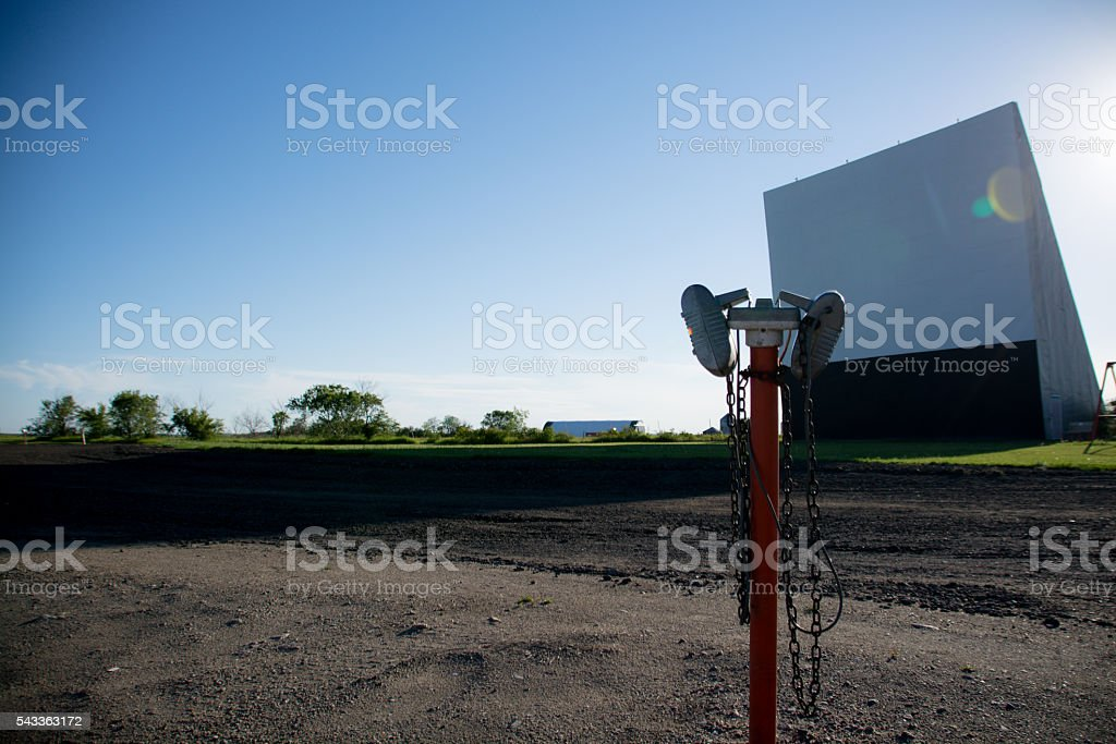 Prairie Drive-In Movie Theatre stock photo