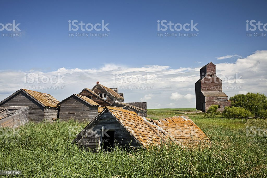 Prairie Ghost Town royalty-free stock photo