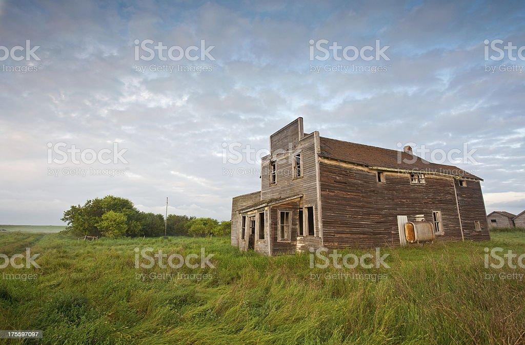 Prairie Ghost Town royalty-free stock photo