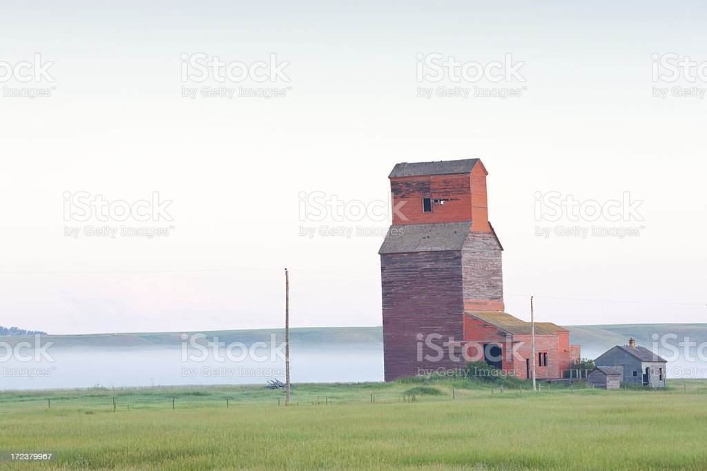 Prairie Grain Elevator stock photo
