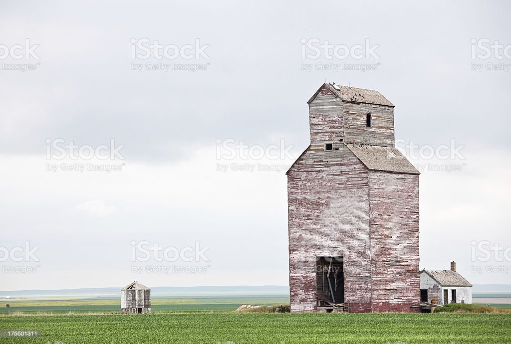 Prairie Grain Elevator stock photo