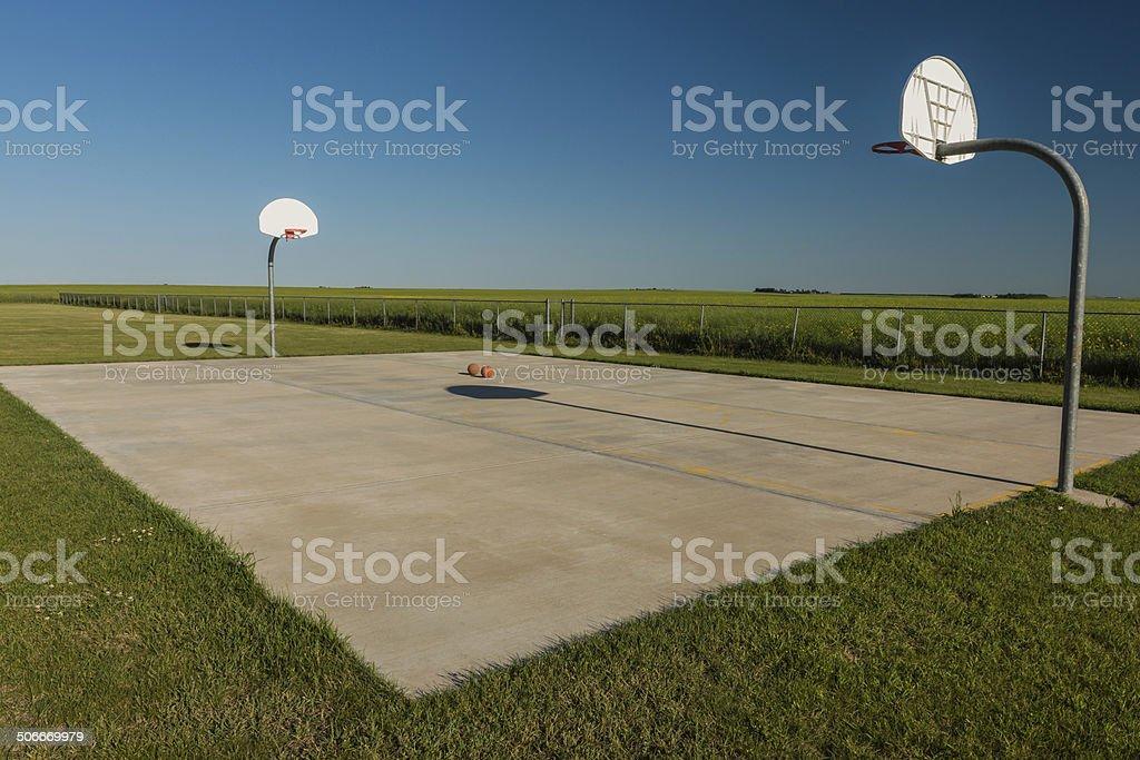 Prairie Hoops stock photo