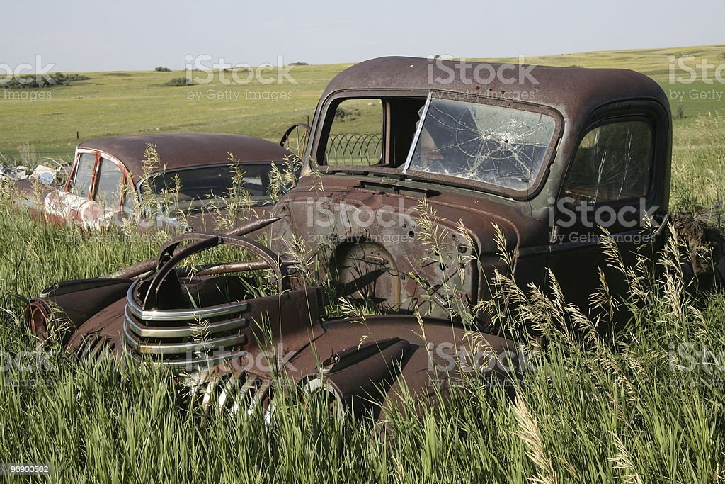 Prairie Junked Truck royalty-free stock photo