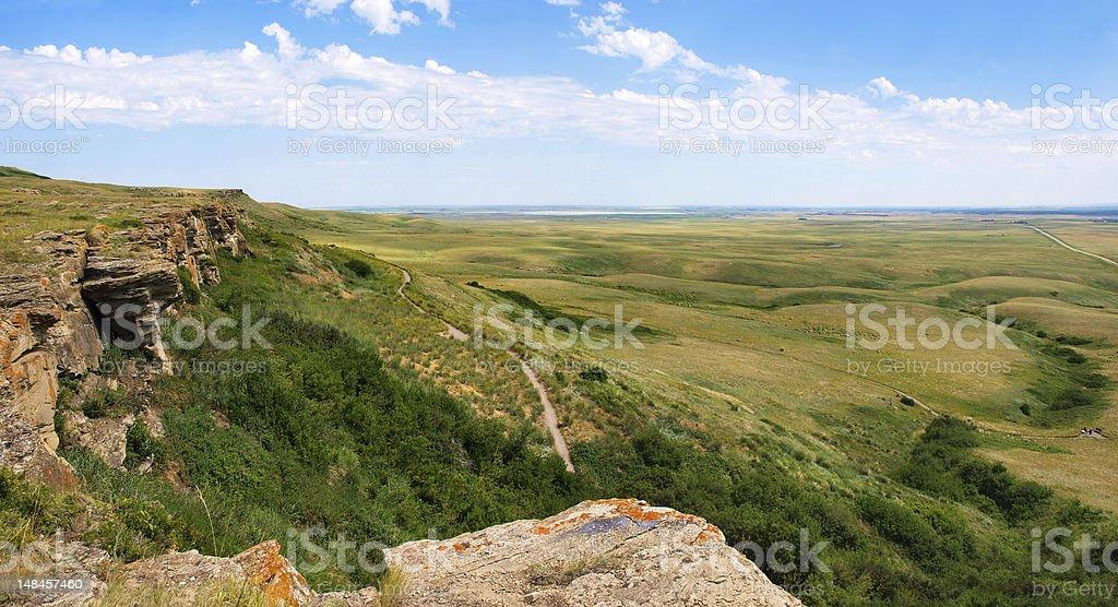 Prairie landscape in Alberta, Canada royalty-free stock photo