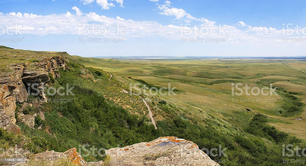 Prairie landscape in Alberta, Canada stock photo