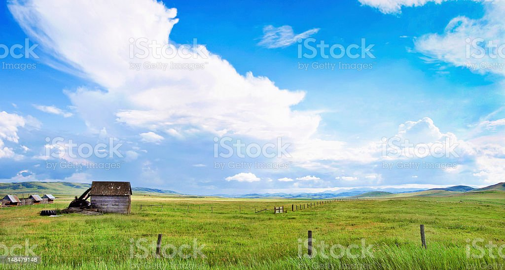 Prairie landscape in Alberta, Canada royalty-free stock photo