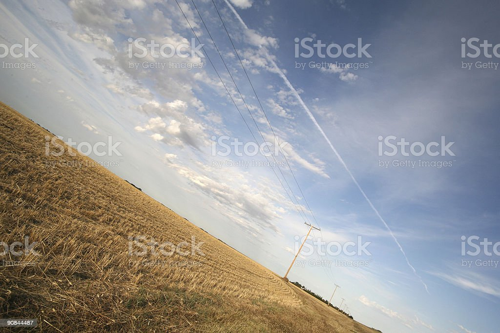 prairie lines stock photo