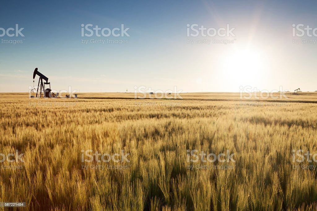 Prairie Oil, Saskatchewan stock photo