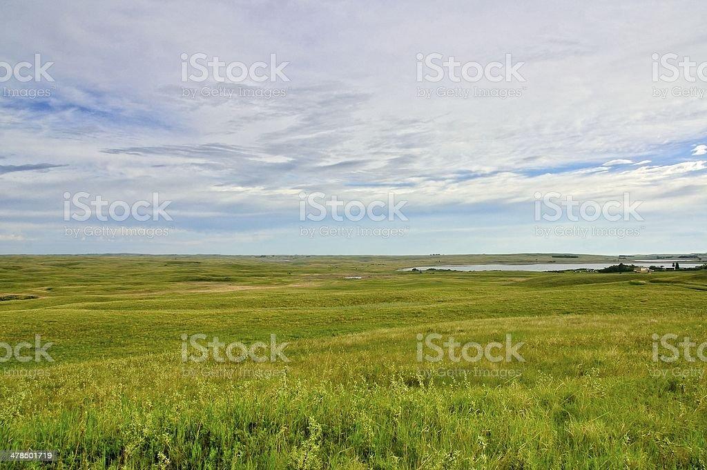 Prairie Pothole Wildlife Area royalty-free stock photo