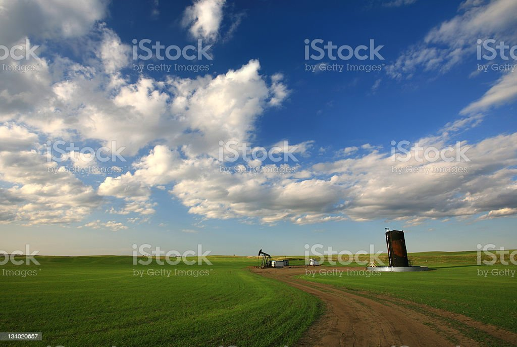 Prairie Pumpjack royalty-free stock photo