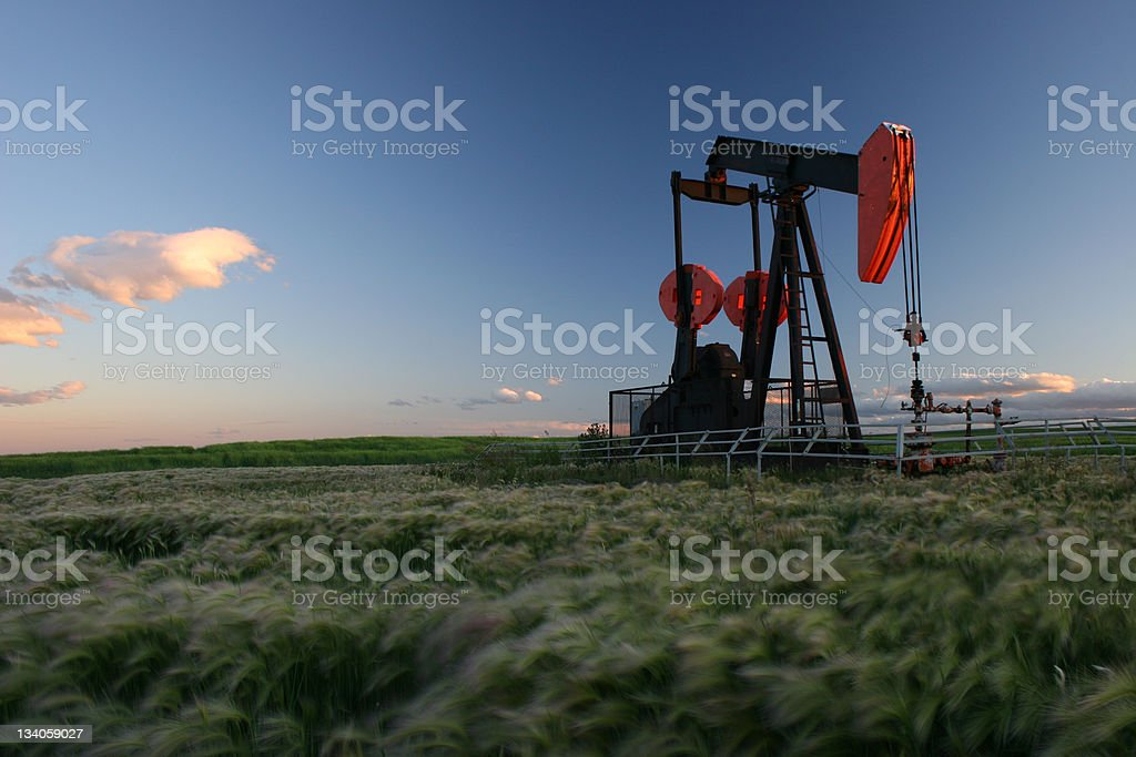 Prairie Pumpjack stock photo