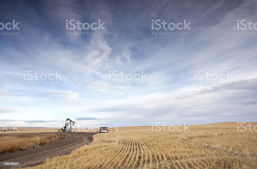 Prairie Pumpjack stock photo