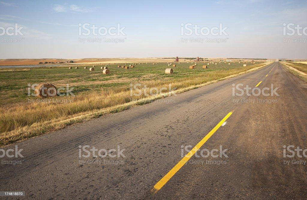 Prairie Road royalty-free stock photo