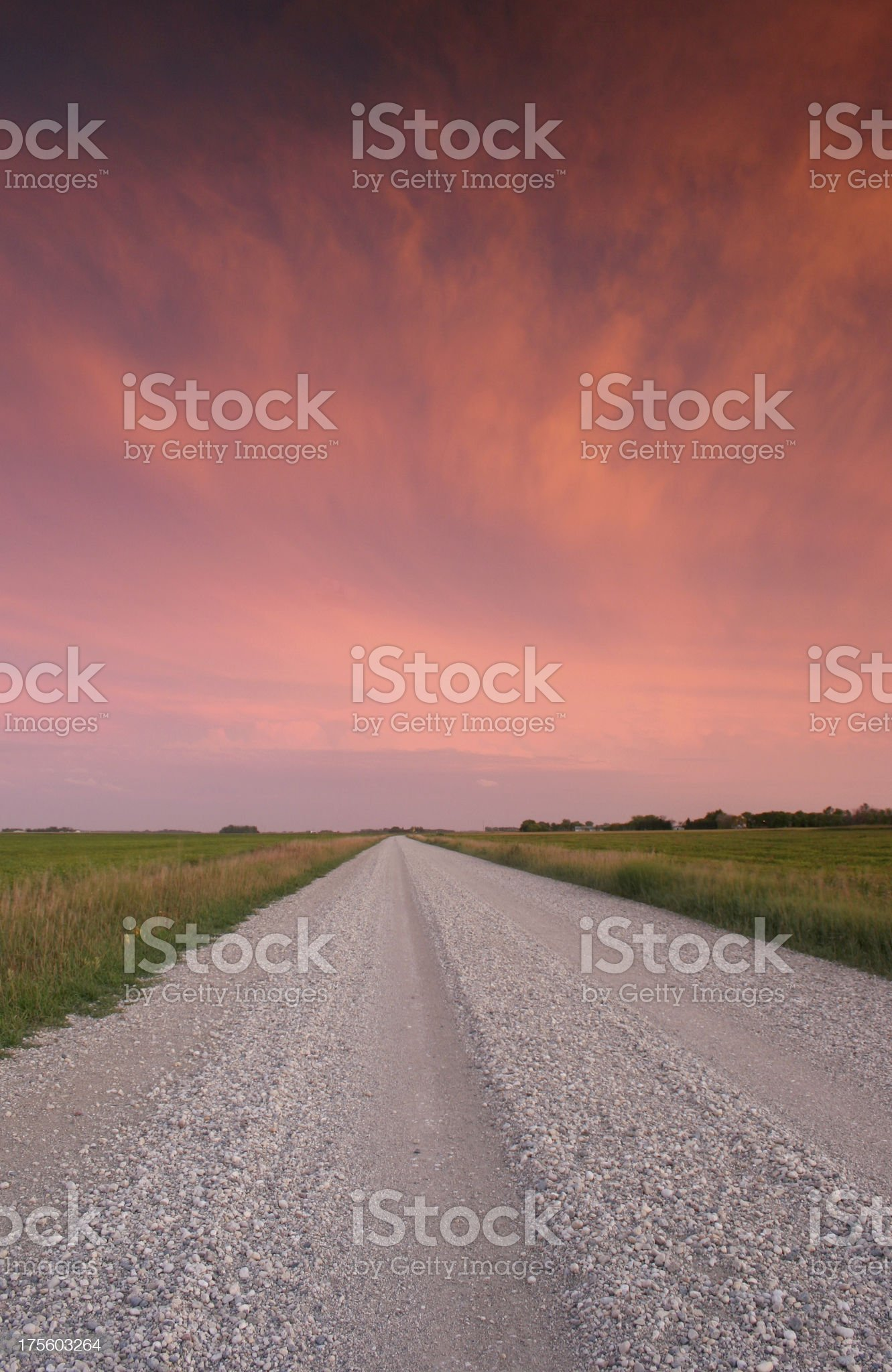 Prairie Road royalty-free stock photo