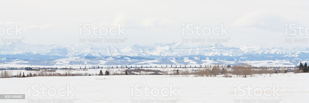 Prairie Rocky Mountain Panorama stock photo