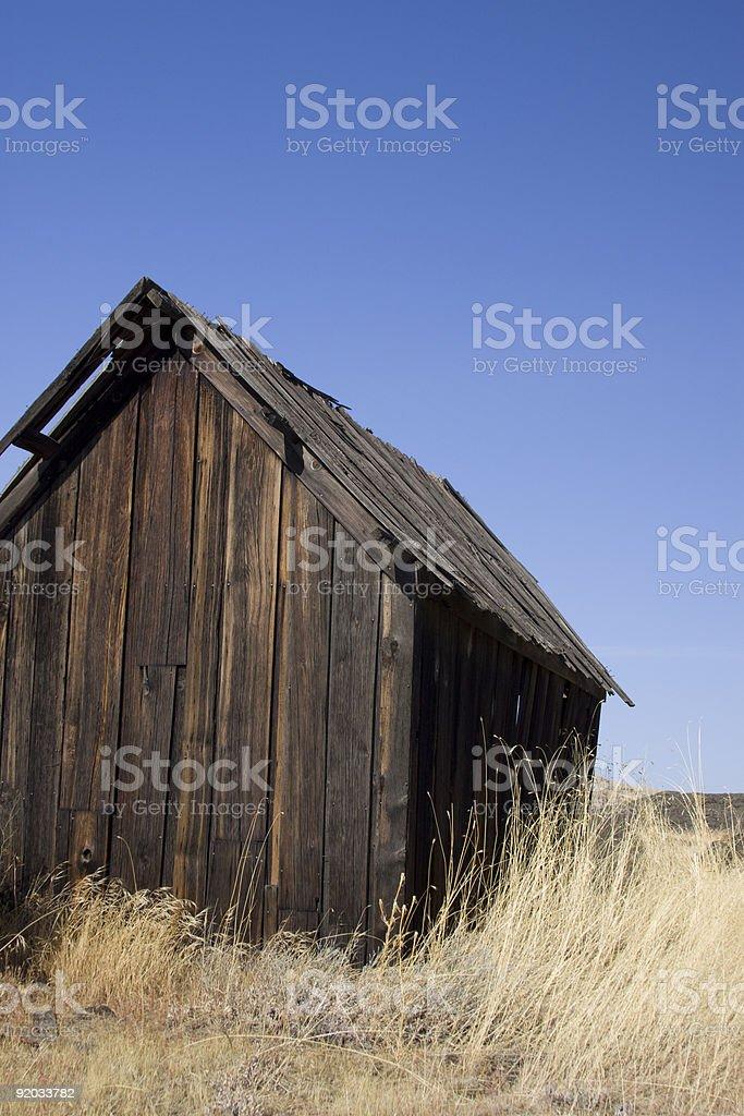 Prairie Shack stock photo