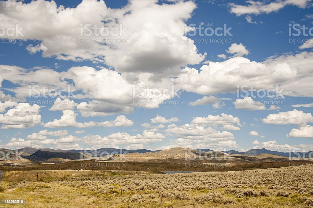 Prairie, Sky and Clouds royalty-free stock photo