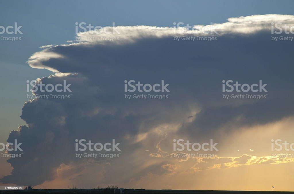prairie storm cloud royalty-free stock photo