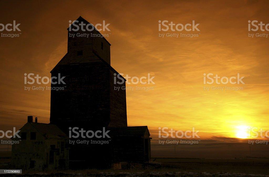 Prairie Sunrise royalty-free stock photo