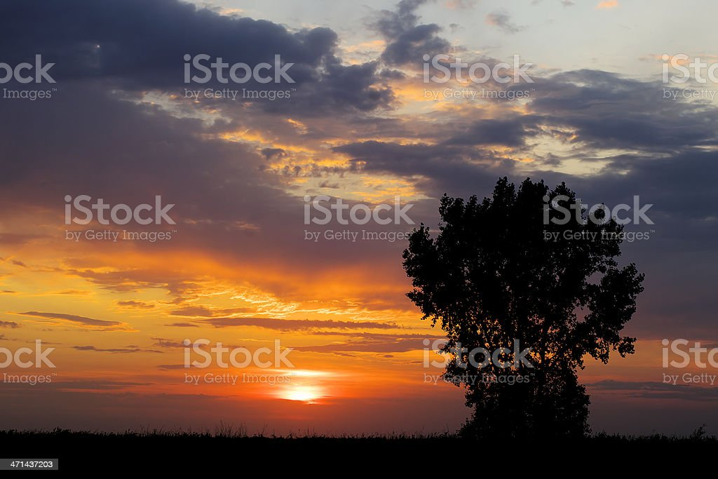 Prairie Sunset royalty-free stock photo