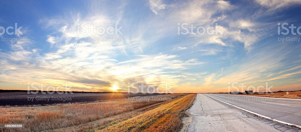 Prairie Sunset stock photo