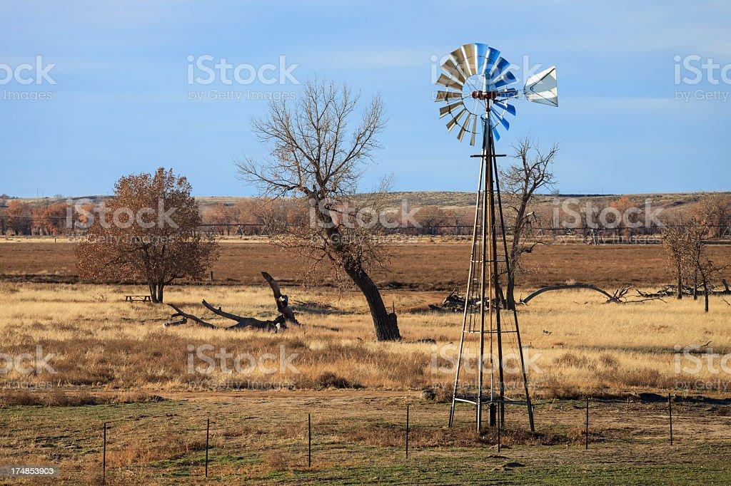 Prairie Windmill royalty-free stock photo