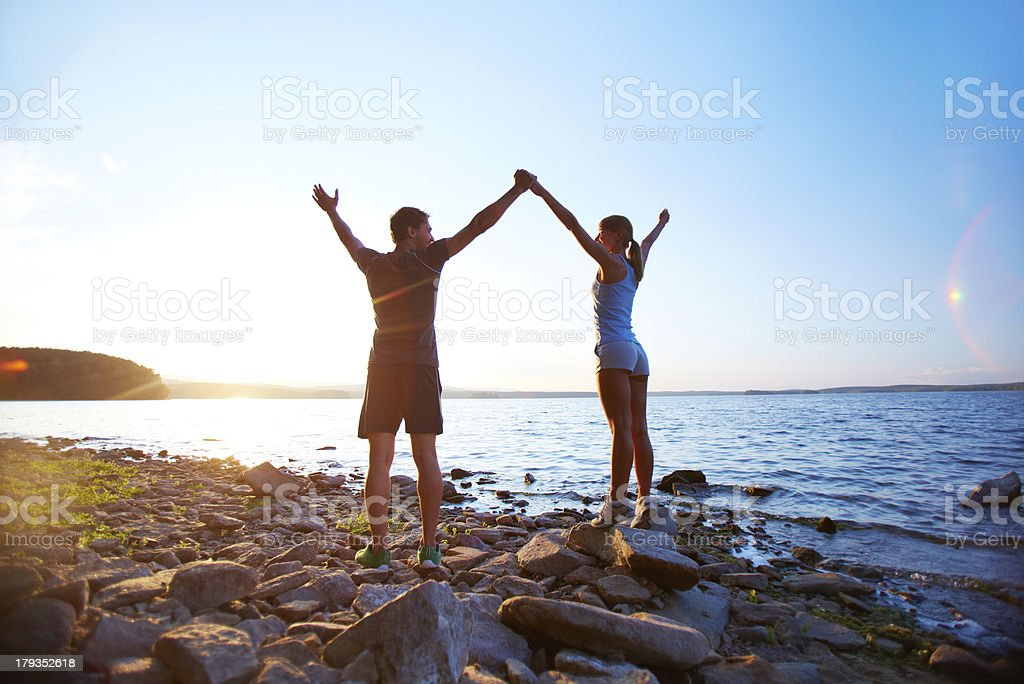 Praise and freedom royalty-free stock photo