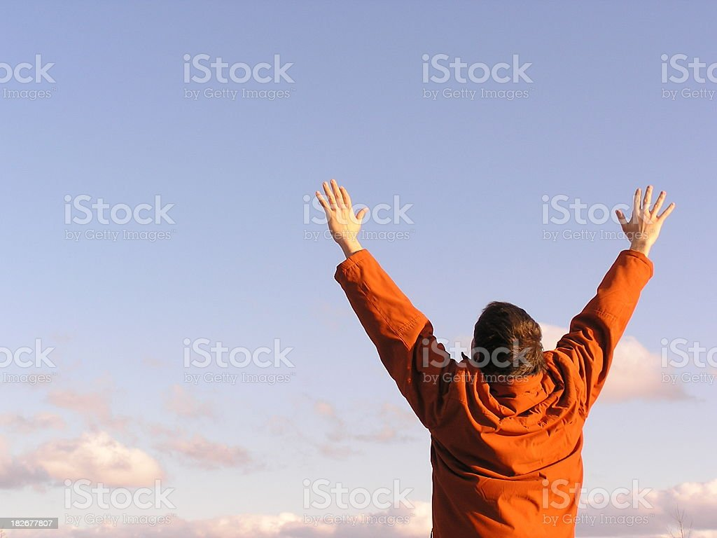 Praise and Worship royalty-free stock photo