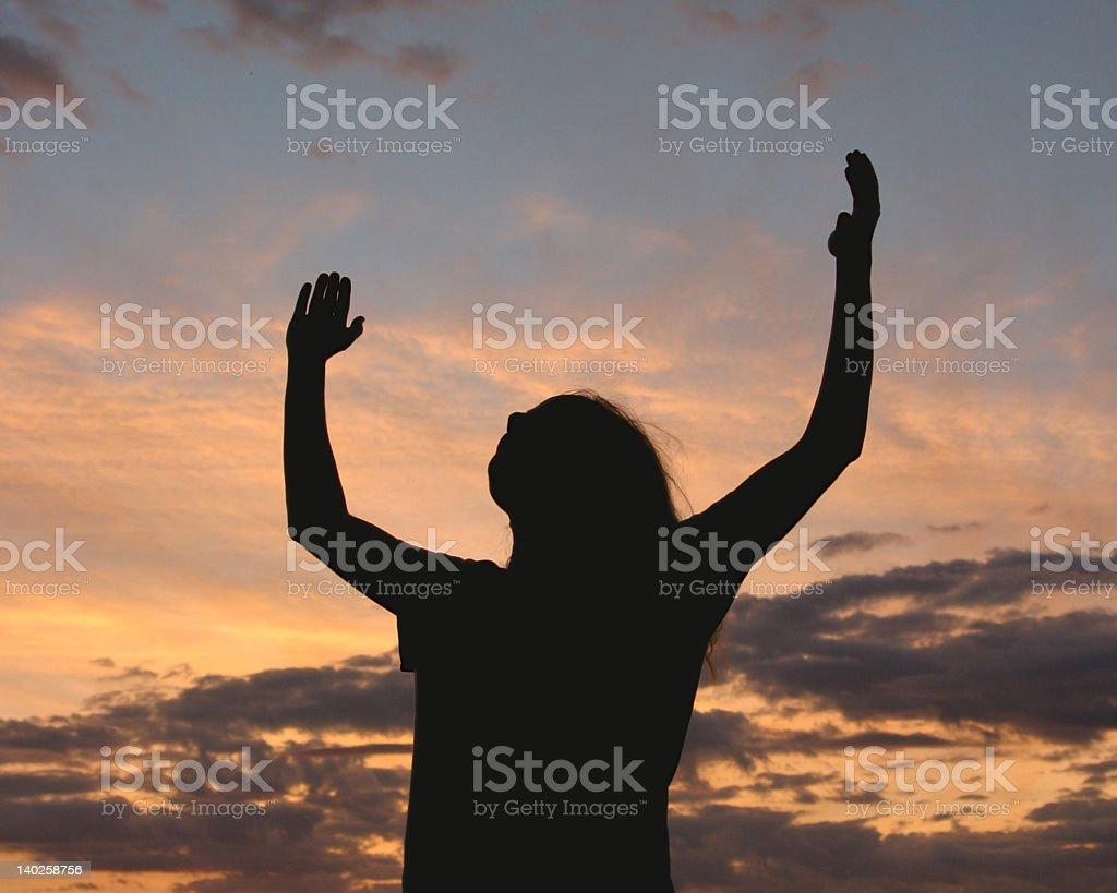 Praise God! (landscape) stock photo