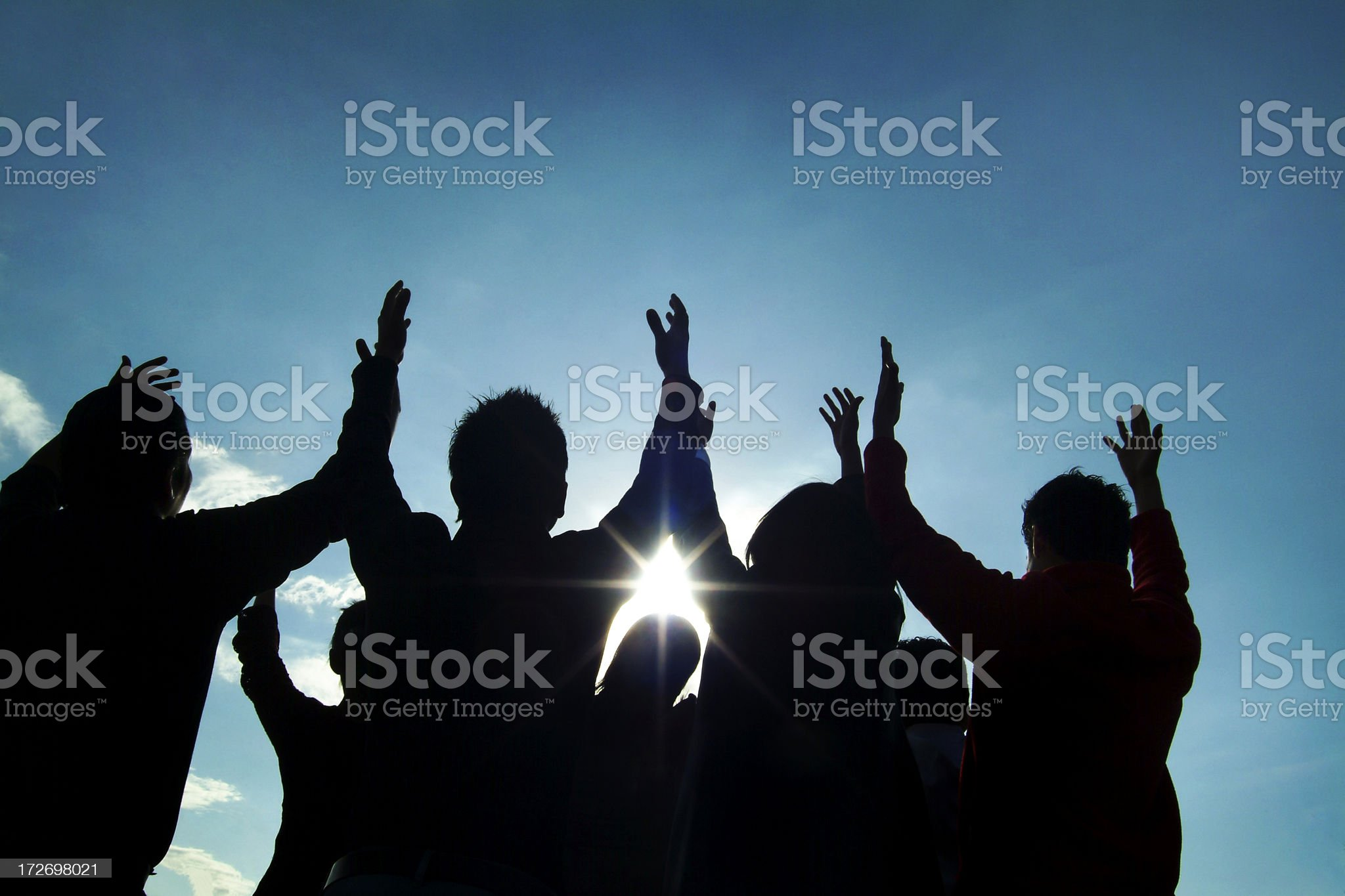 Praise royalty-free stock photo