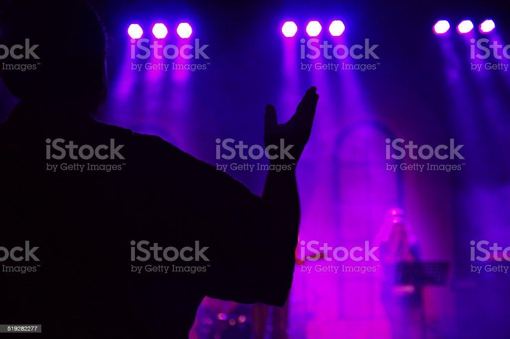 Praising event stock photo