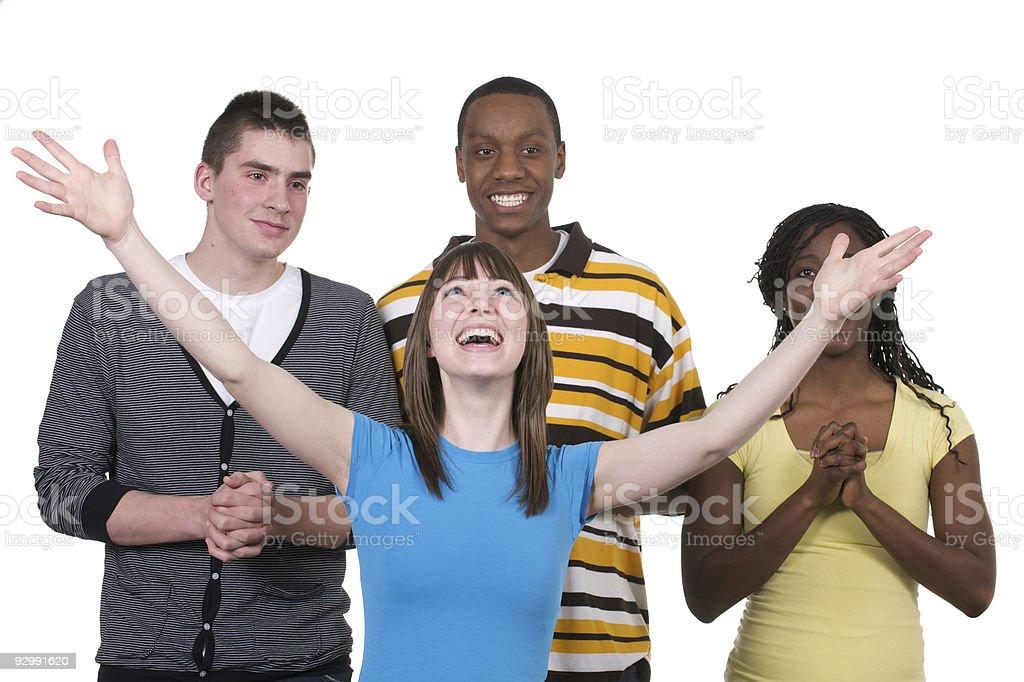 Praising God royalty-free stock photo