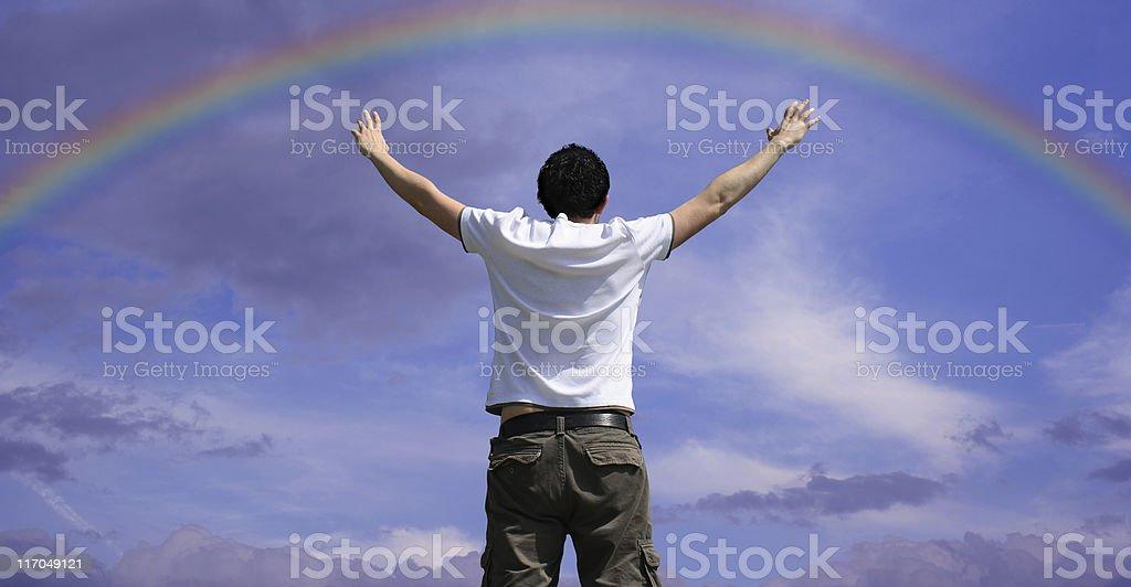 Praising royalty-free stock photo