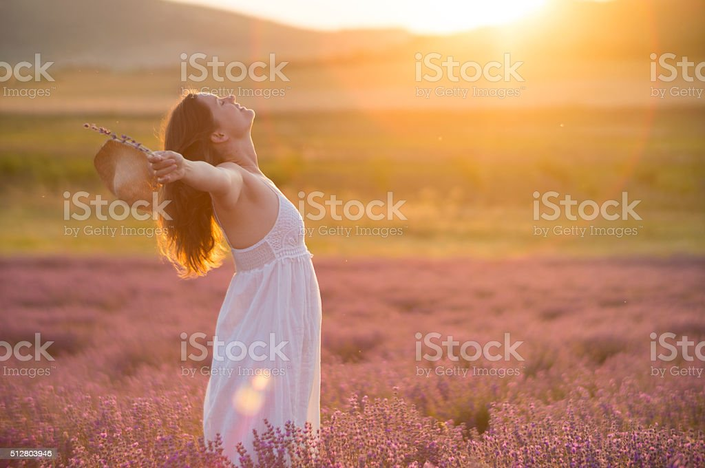 Praising the beauty of life stock photo