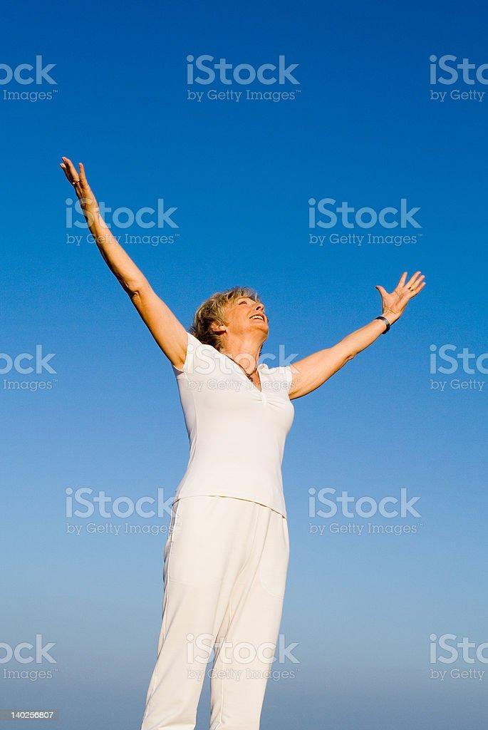 praising the skies(SEE similar images below) royalty-free stock photo