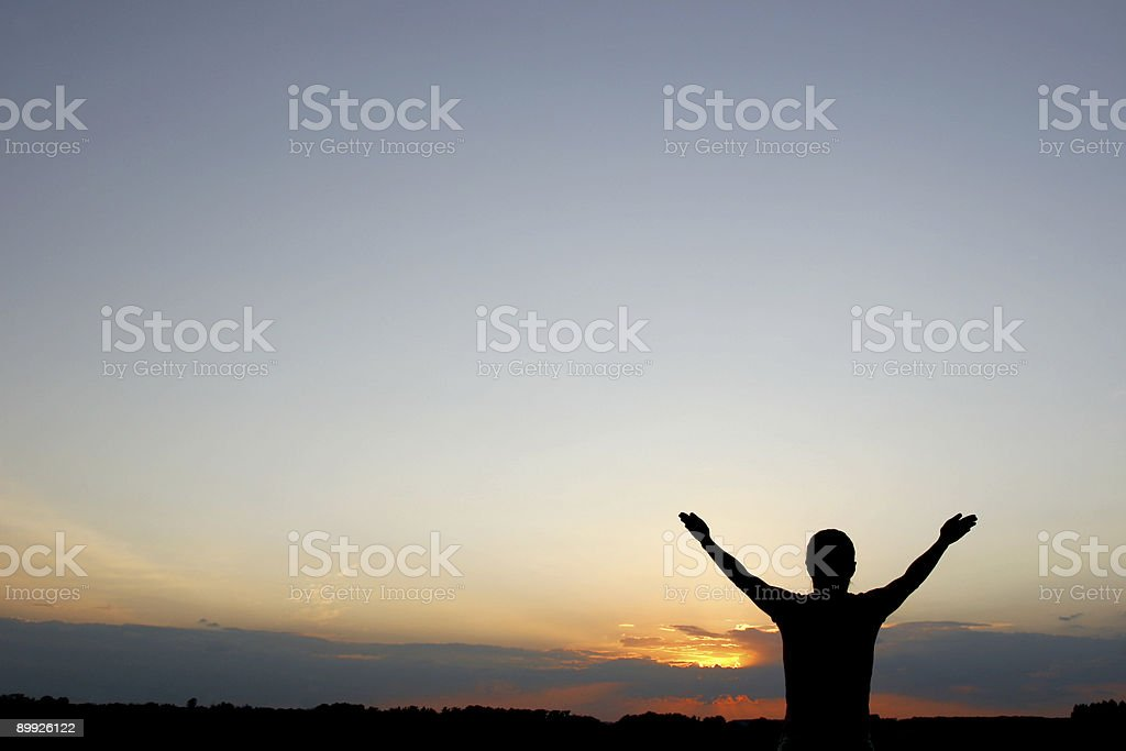 Praising woman royalty-free stock photo