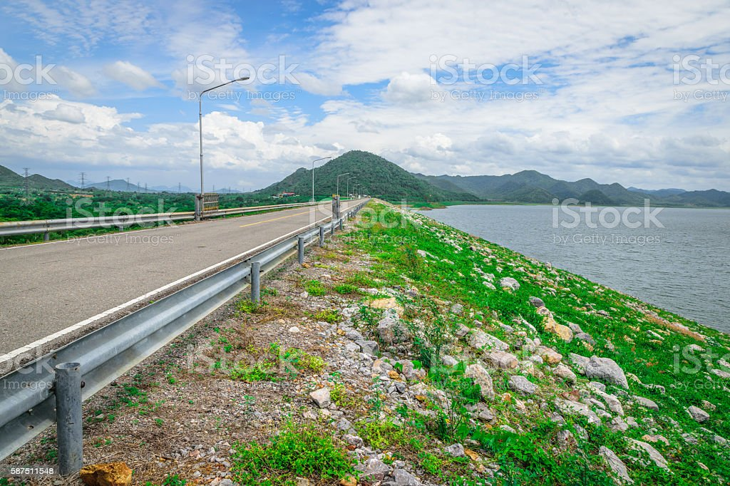 Prajinburi Dam stock photo