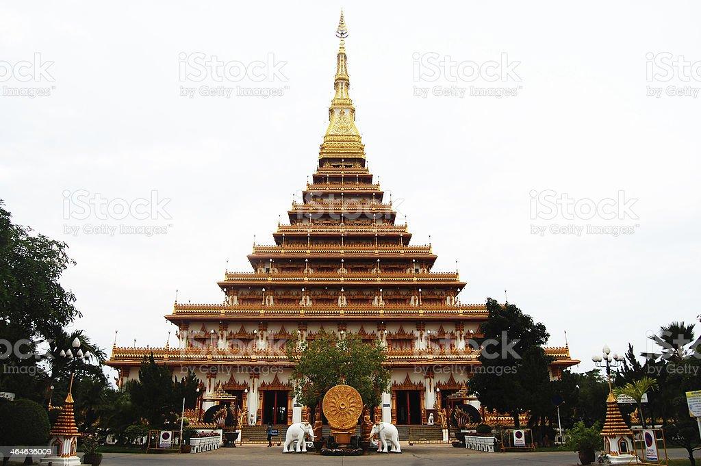 Pramahatat kaen nakron Temple , Mueang KhonKaen , Thailand stock photo