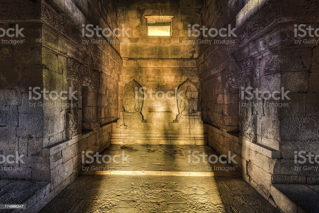 Prambanan Hindu Temple in Java, Indonesia stock photo