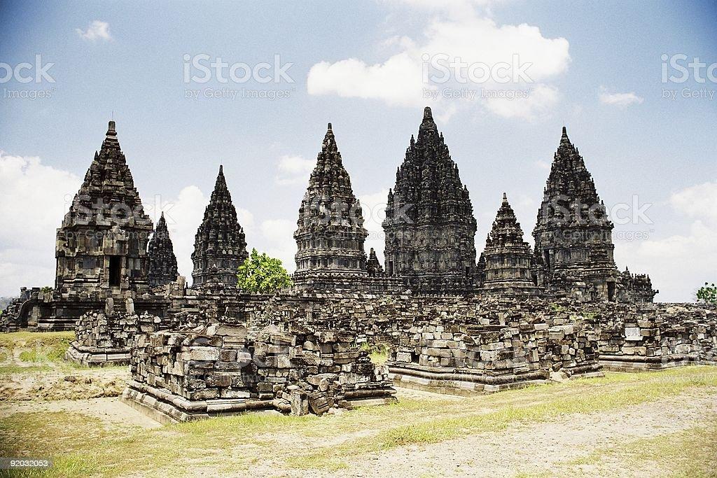 Prambanan Ruins royalty-free stock photo