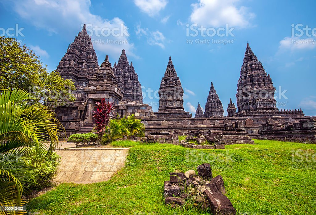Prambanan temple in Java stock photo