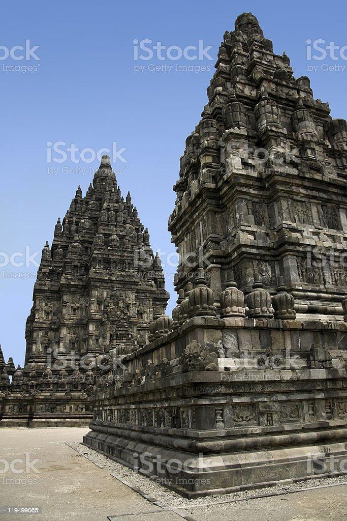 prambanan temples yogyakarta java indonesia royalty-free stock photo