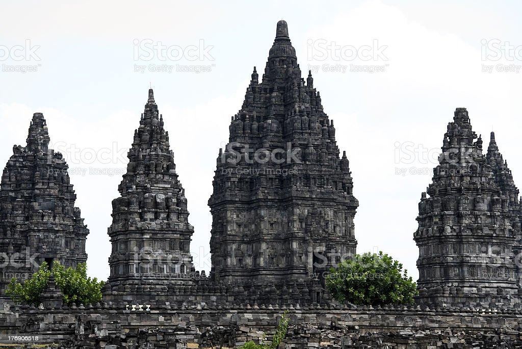 prambanan temples yogyakarta java indonesia stock photo