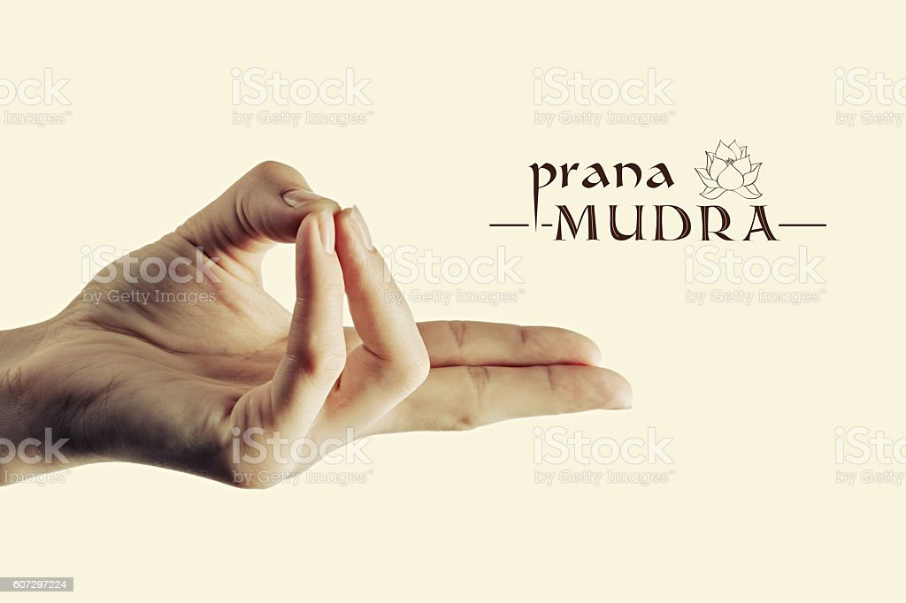 Prana mudra color stock photo