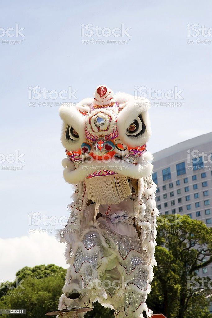 Prancing lion stock photo