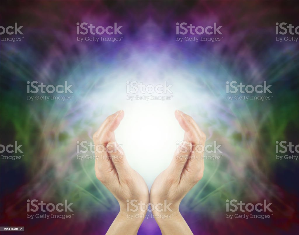 Pranic Healing Energy stock photo