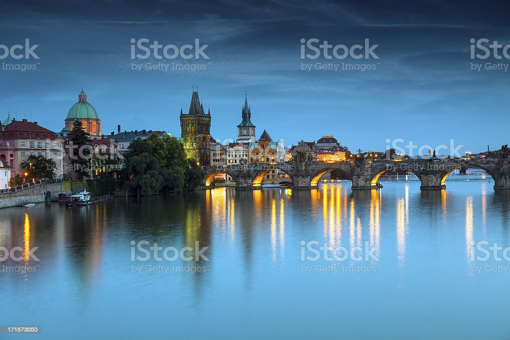 Praque at Night royalty-free stock photo