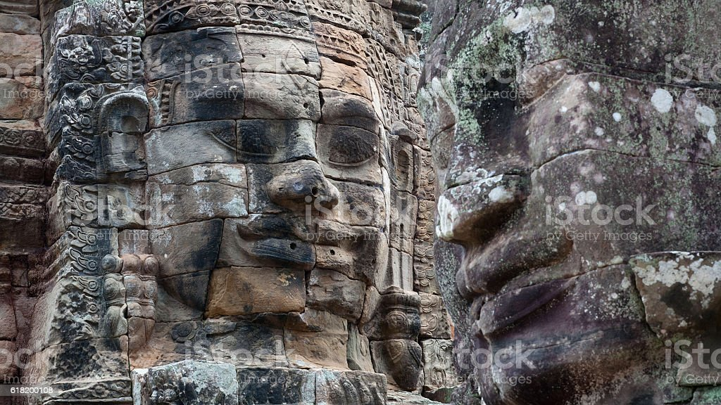 Prasat Bayon Temple, Angkor, Cambodia stock photo