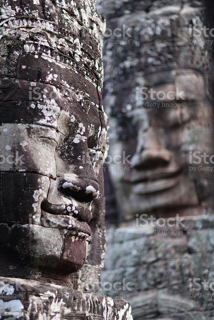 Prasat Bayon Temple in Angkor, Cambodia stock photo