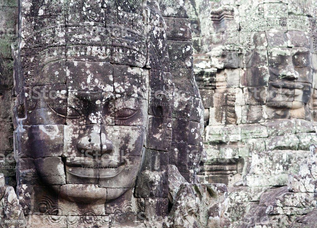 Prasat Bayon temple in Angkor Thom, Cambodia stock photo